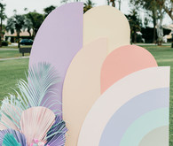 Pastel party backdrop