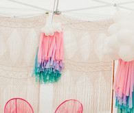 Macrame party backdrop