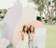 Pastel party backdrop for kids