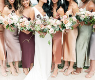 Bridesmaid slip dresses