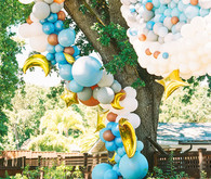 Blue + yellow celestial themed baby shower