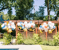 Balloon installation on fence