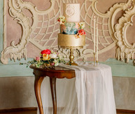 Elegant european wedding cake