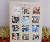 1st birthday party photo display