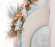 Modern wedding backdrop
