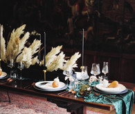 Pampas grass tablescape