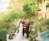 Intimate late summer backyard wedding in Austin