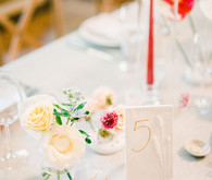 Elegant table number idea