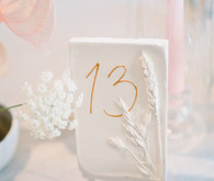 Elegant white table number