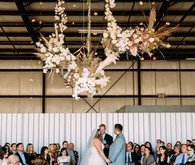 Ceremony hanging flowers