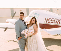 Airplane hangar wedding venue