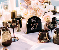 Blush and black wedding colors