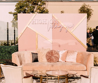 Luxe modern wedding decor