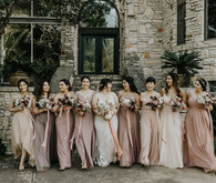 Neutral blush bridesmaid dresses