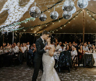 First dance under disco balls