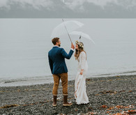 Rainy day Alaska wedding for The Bus & Us
