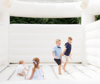 White bounce house