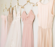 Blush bridal fashion