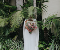 Cape wedding dress