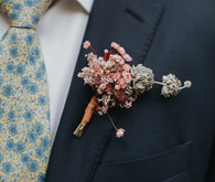 Babies breath boutonniere