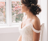 Soft bridal hairstyle