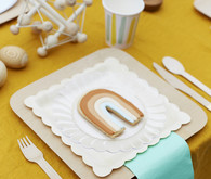 Rainbow themed place setting