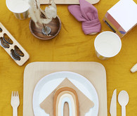 Rainbow place setting