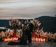 Moody boho NYE wedding