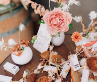 Fall floral escort cards