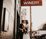 Winery themed wedding inspiration at The Big Fake Wedding San Francisco