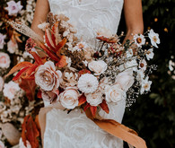 Fall foliage bridal bouquet
