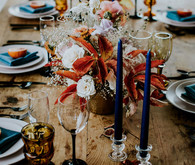 Colorful fall tablescape ideas