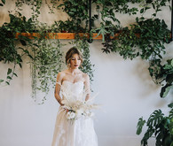 Greenery wedding backdrop