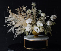 White and cream floral arrangements