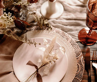Natural fall place setting