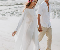 Tropical beach wedding in Costa Rica