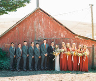 Fall wedding party style