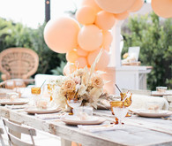 Peach baby shower
