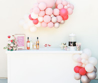Pink bar with balloon decor