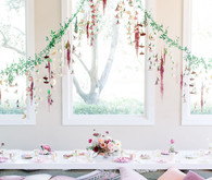 Hanging greenery and flowers