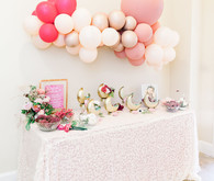 Moon Child celestial floral first birthday party