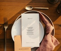 Modern menu and place settings