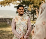 neutral Indian groom fashion