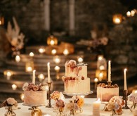 candlelight cake display