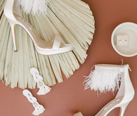 Fringe bridal shoes