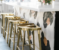 modern gold bar stools