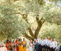 Bright, rustic orange + yellow Northern California ranch wedding