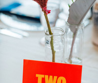 Colorful table number idea