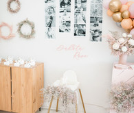 1st birthday photo wall