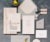 modern grey wedding invitations